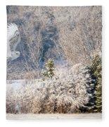 Snowy Owl Flight Fleece Blanket