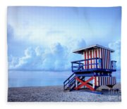No Lifeguard On Duty Fleece Blanket