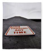 No Parking Any Time Fleece Blanket