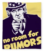 No Room For Rumors - Uncle Sam Fleece Blanket