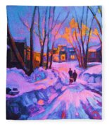 No Sidewalks Fleece Blanket