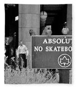 No Skateboarding Fleece Blanket