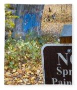 No Spray Painting Fleece Blanket