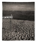 No Swimming Fleece Blanket