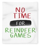 No Time For Reindeer Games- Art By Linda Woods Fleece Blanket