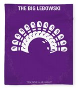 No010 My Big Lebowski Minimal Movie Poster Fleece Blanket