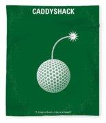 No013 My Caddy Shack Minimal Movie Poster Fleece Blanket