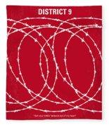 No023 My District9 Minimal Movie Poster Fleece Blanket