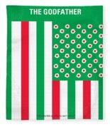 No028 My Godfather Minimal Movie Poster Fleece Blanket