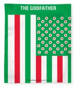 No028 My Godfather Minimal Movie Poster Fleece Blanket
