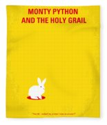 No036 My Monty Python And The Holy Grail Minimal Movie Poster Fleece Blanket