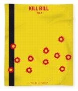 No048 My Kill Bill -part 1 Minimal Movie Poster Fleece Blanket