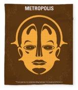 No052 My Metropolis Minimal Movie Poster Fleece Blanket
