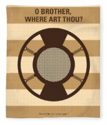 No055 My O Brother Where Art Thou Minimal Movie Poster Fleece Blanket