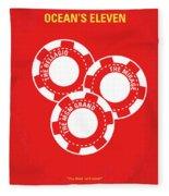 No056 My Oceans 11 Minimal Movie Poster Fleece Blanket
