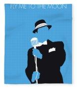 No059 My Sinatra Minimal Music Poster Fleece Blanket