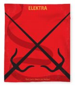 No060 My Electra Minimal Movie Poster Fleece Blanket