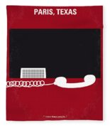 No062 My Paris Texas Minimal Movie Poster Fleece Blanket