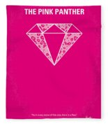 No063 My Pink Panther Minimal Movie Poster Fleece Blanket