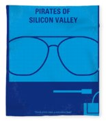 No064 My Pirates Of Silicon Valley Minimal Movie Poster Fleece Blanket