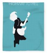 No065 My Acdc Minimal Music Poster Fleece Blanket