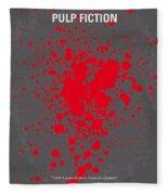 No067 My Pulp Fiction Minimal Movie Poster Fleece Blanket