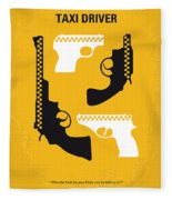 No087 My Taxi Driver Minimal Movie Poster Fleece Blanket