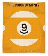 No089 My The Color Of Money Minimal Movie Poster Fleece Blanket