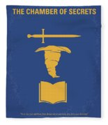 No101-2 My Hp - Chamber Of Secrets Minimal Movie Poster Fleece Blanket by Chungkong Art