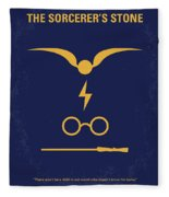 No101 My Harry Potter Minimal Movie Poster Fleece Blanket