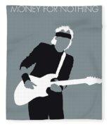 No107 My Mark Knopfler Minimal Music Poster Fleece Blanket
