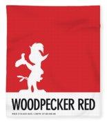 No12 My Minimal Color Code Poster Woody Woodpecker Fleece Blanket