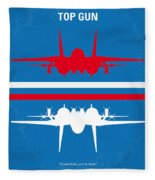 No128 My Top Gun Minimal Movie Poster Fleece Blanket