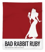 No14 My Minimal Color Code Poster Jessica Rabbit Fleece Blanket