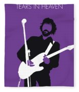 No141 My Eric Clapton Minimal Music Poster Fleece Blanket