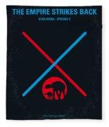 No155 My Star Wars Episode V The Empire Strikes Back Minimal Movie Poster Fleece Blanket