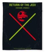 No156 My Star Wars Episode Vi Return Of The Jedi Minimal Movie Poster Fleece Blanket