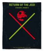No156 My Star Wars Episode Vi Return Of The Jedi Minimal Movie Poster Fleece Blanket