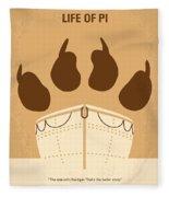 No173 My Life Of Pi Minimal Movie Poster Fleece Blanket