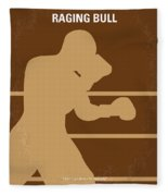 No174 My Raging Bull Minimal Movie Poster Fleece Blanket
