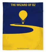 No177 My Wizard Of Oz Minimal Movie Poster Fleece Blanket