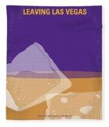 No180 My Leaving Las Vegas Minimal Movie Poster Fleece Blanket by Chungkong Art