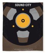 No181 My Sound City Minimal Movie Poster Fleece Blanket