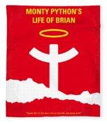 No182 My Monty Python Life Of Brian Minimal Movie Poster Fleece Blanket