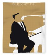 No190 My Fats Domino Minimal Music Poster Fleece Blanket