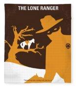 No202 My The Lone Ranger Minimal Movie Poster Fleece Blanket