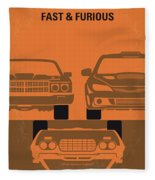 No207-4 My Fast And Furious Minimal Movie Poster Fleece Blanket