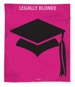 No301 My Legally Blonde Minimal Movie Poster Fleece Blanket