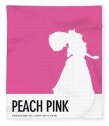 No44 My Minimal Color Code Poster Peach Fleece Blanket