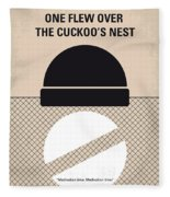 No454 My One Flew Over The Cuckoos Nest Minimal Movie Poster Fleece Blanket